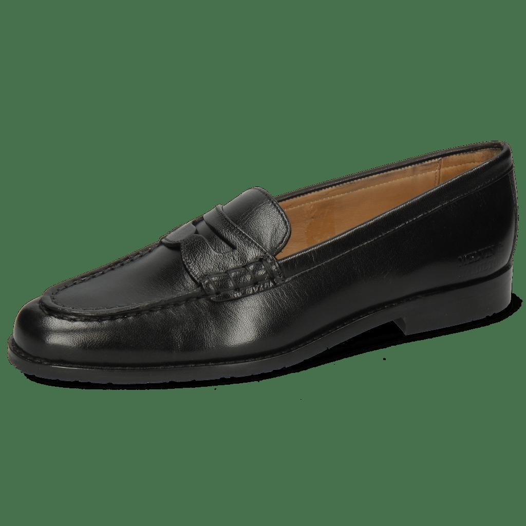 Loafers Mia 1 Crust Black Sole Blue