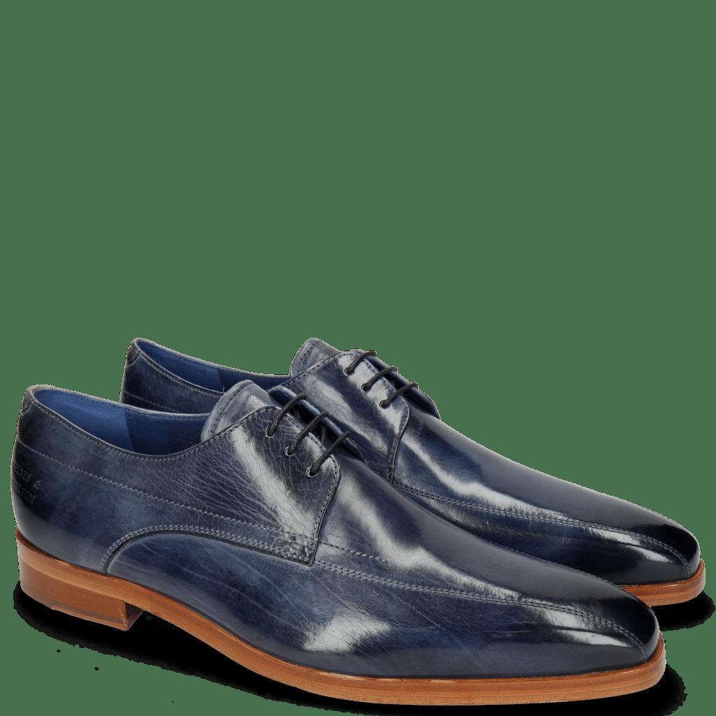 Derby Schuhe Lewis 10 Moroccan Blue