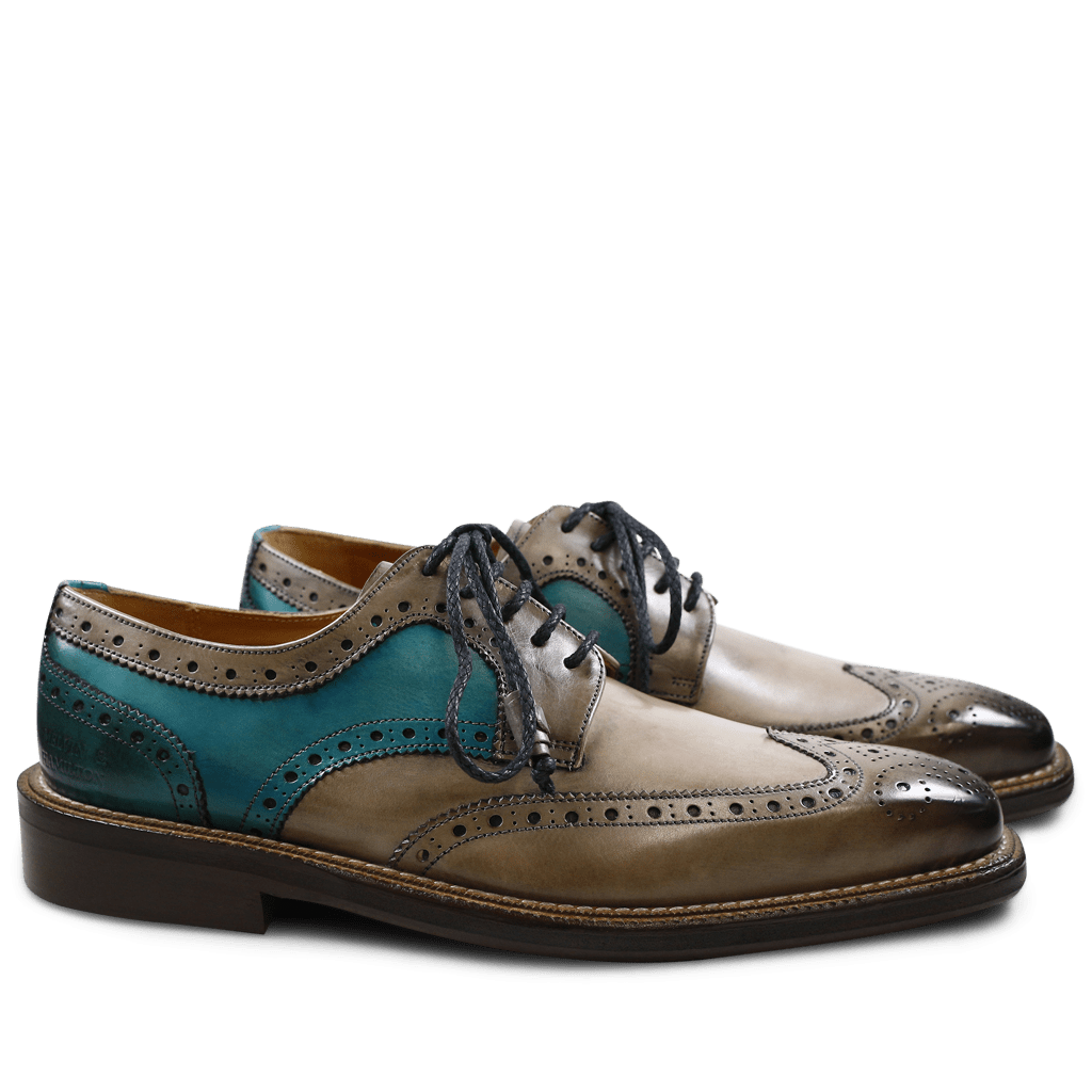 Derby Schuhe Marvin 1 Smoke Rope Ice Blue