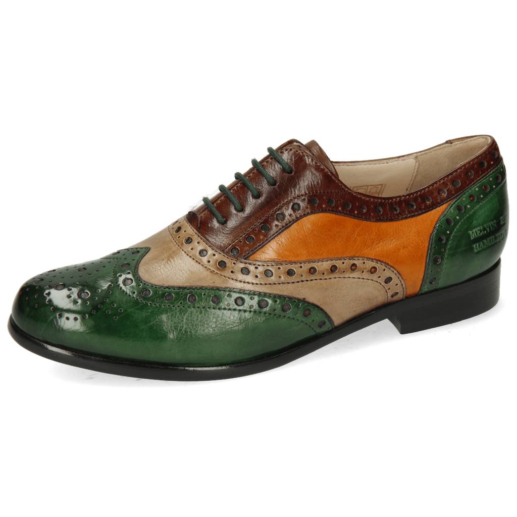 Oxford Schuhe Selina 30 Imola Dark Forest New Taupe Mink Cuoio