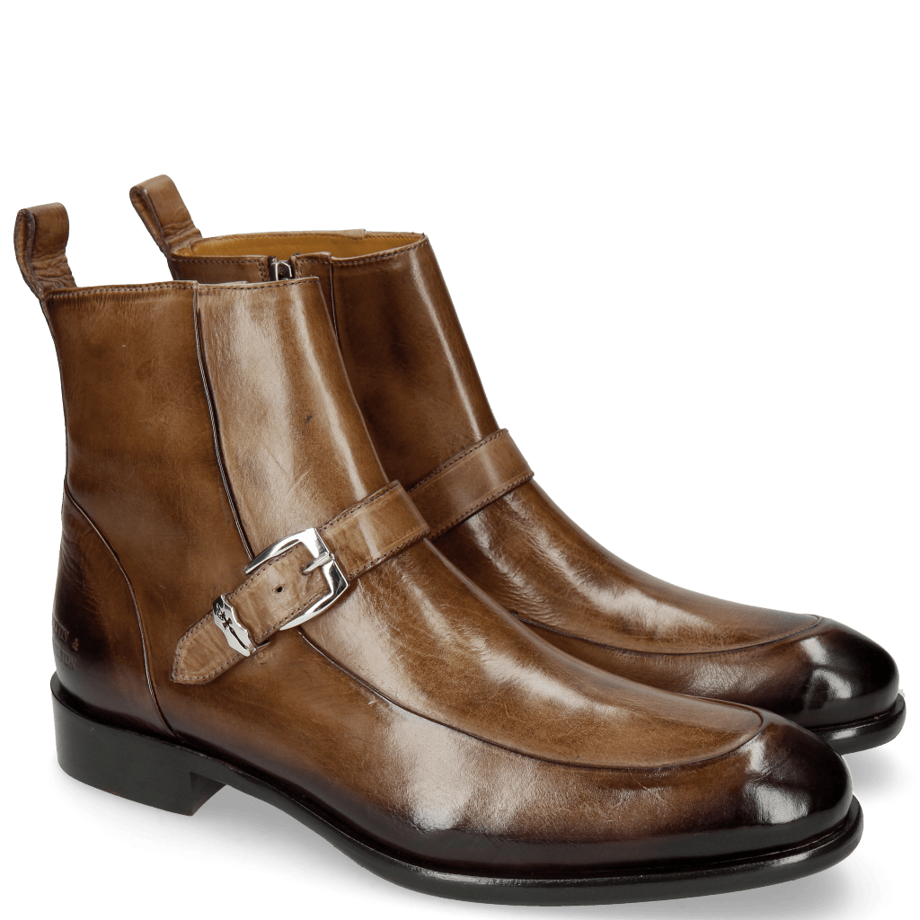 Stiefeletten Patrick 17 New Taupe Shade Mogano Sword Buckle
