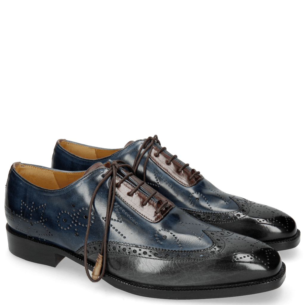 Oxford Schuhe Jeff 27 Grigio Helio Wine HRS