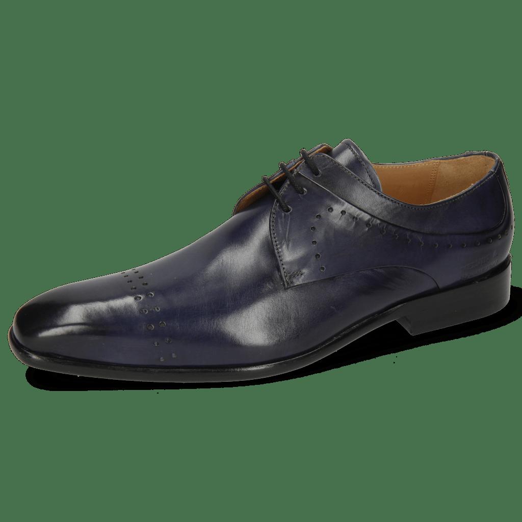 Derby Schuhe Ethan 14 Marine Lining Rich Tan