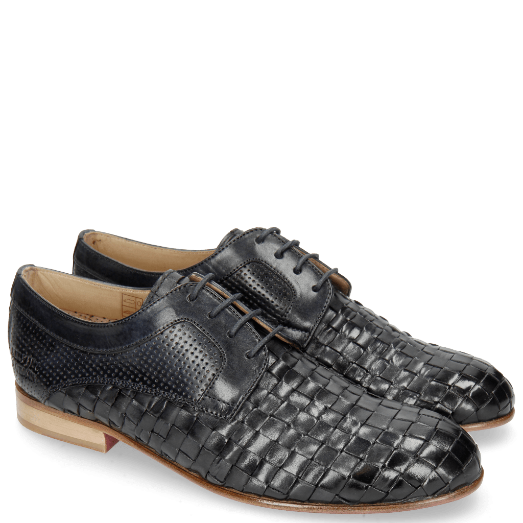 Derby Schuhe Sally 37 Woven Nappier Perfo Navy