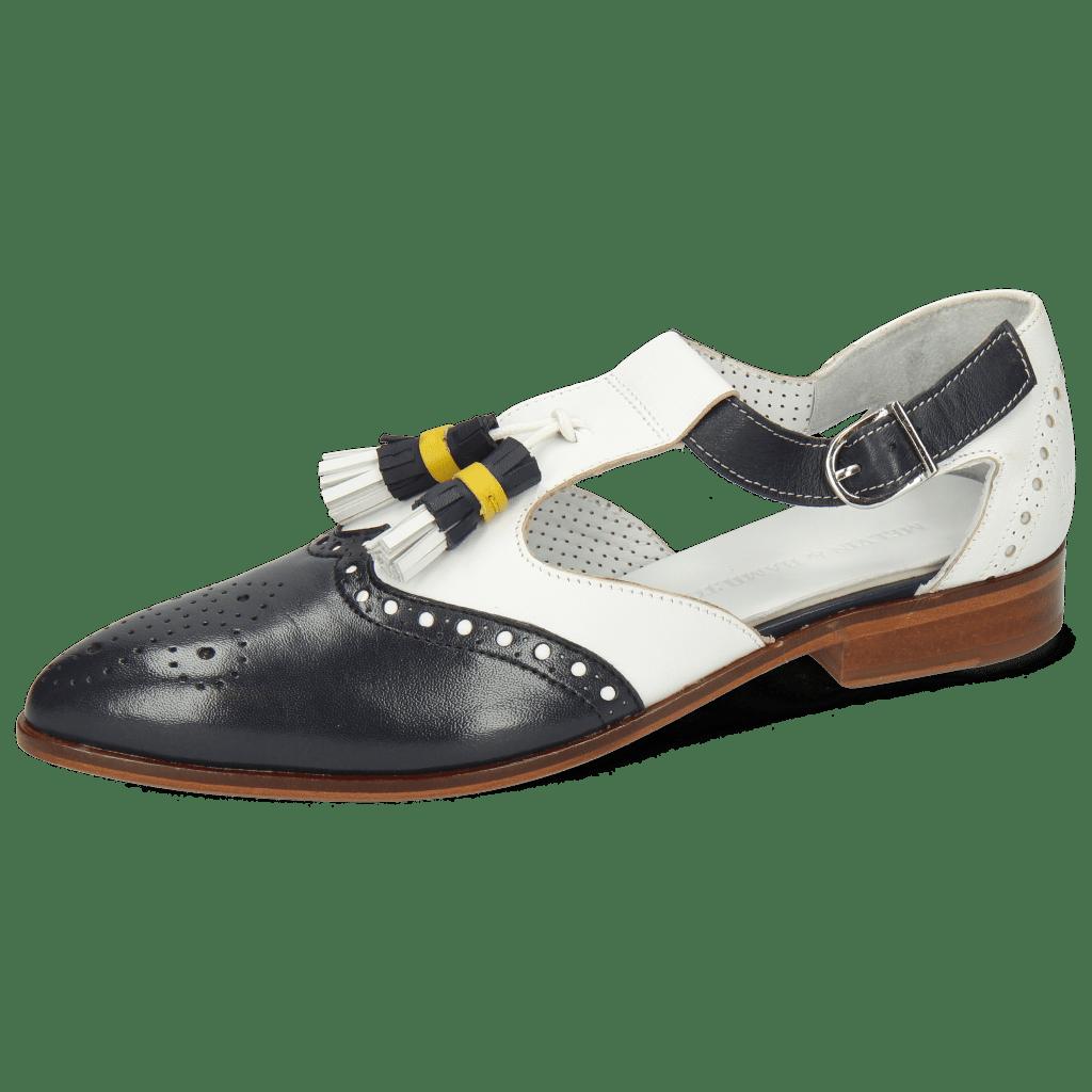Monk Schuhe Jessy 52 Nappa Glove Deep Navy White
