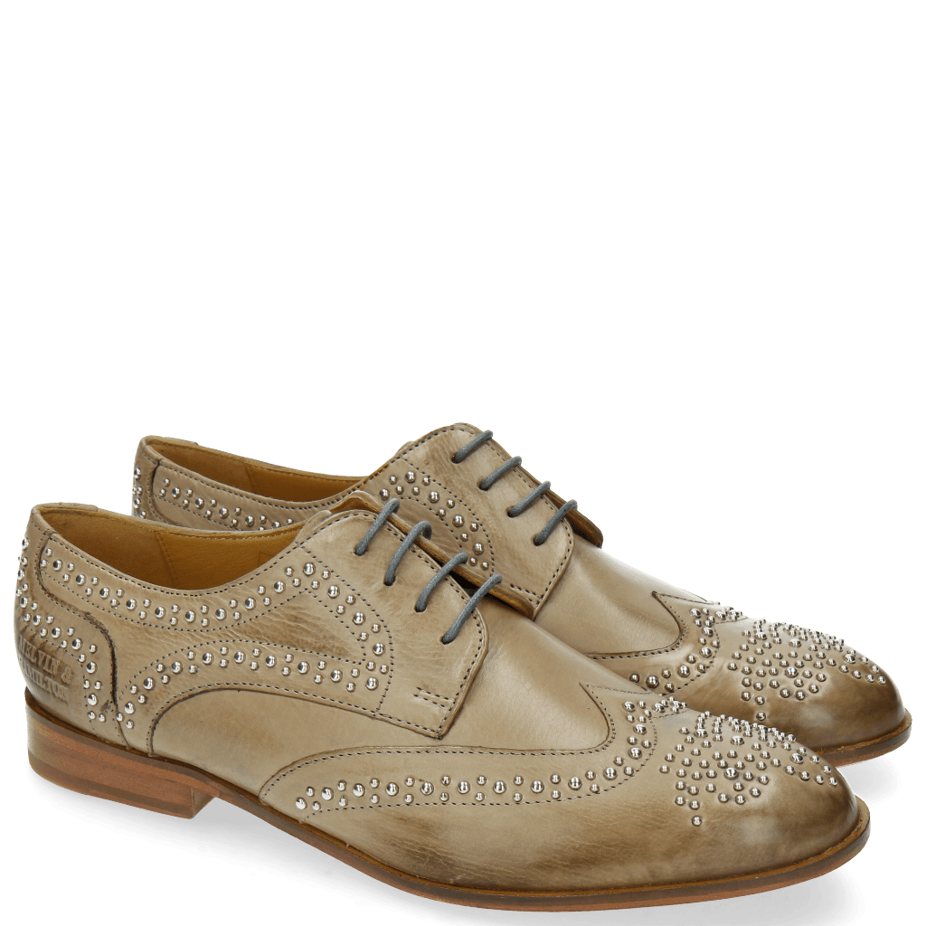Derby Schuhe Sally 53 Berlin Smoke Rivets
