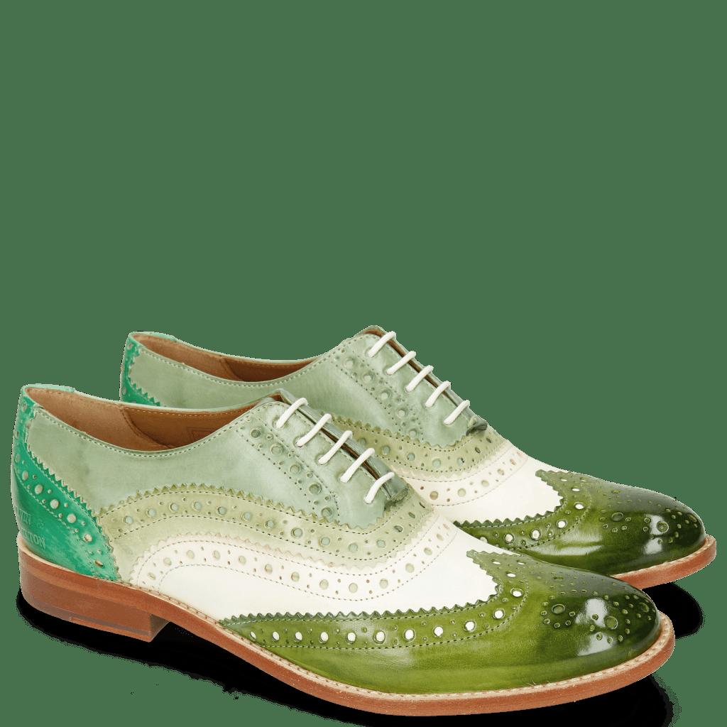 Oxford Schuhe Amelie 10 Vegas Ultra Green White Mint Algae Electric Green