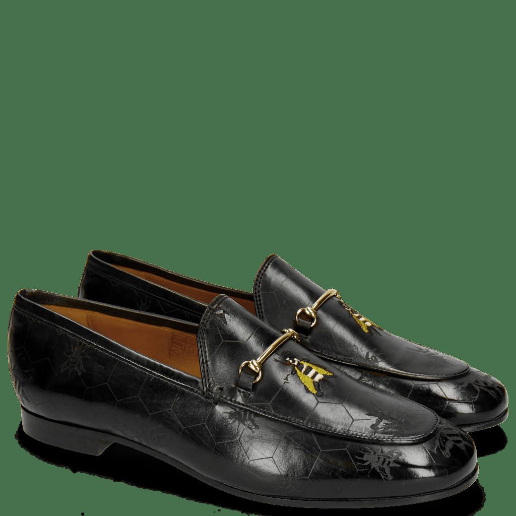 Loafers Scarlett 1 Black Lasercut Bee