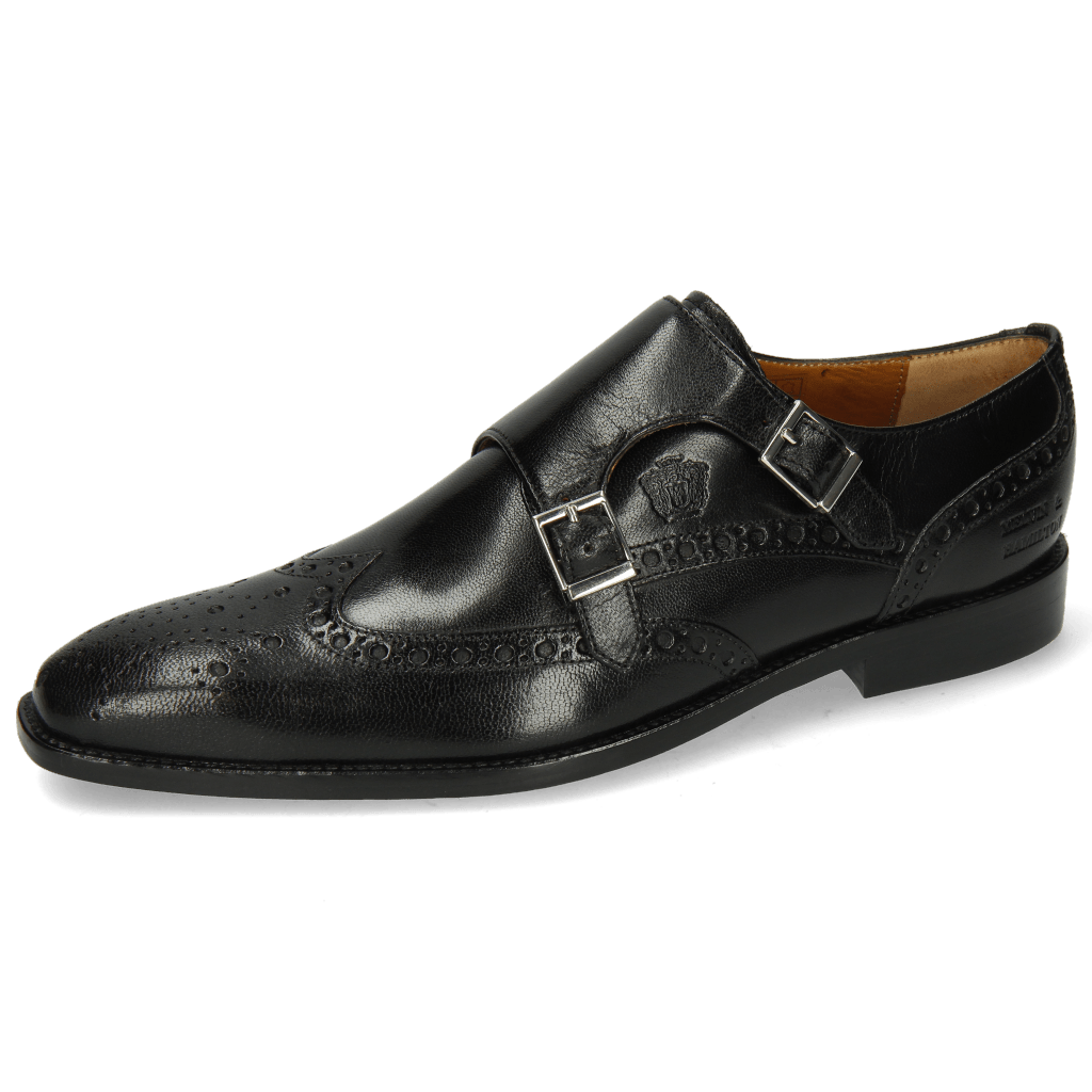 Monk Schuhe Martin 2 Venice Black LS Black