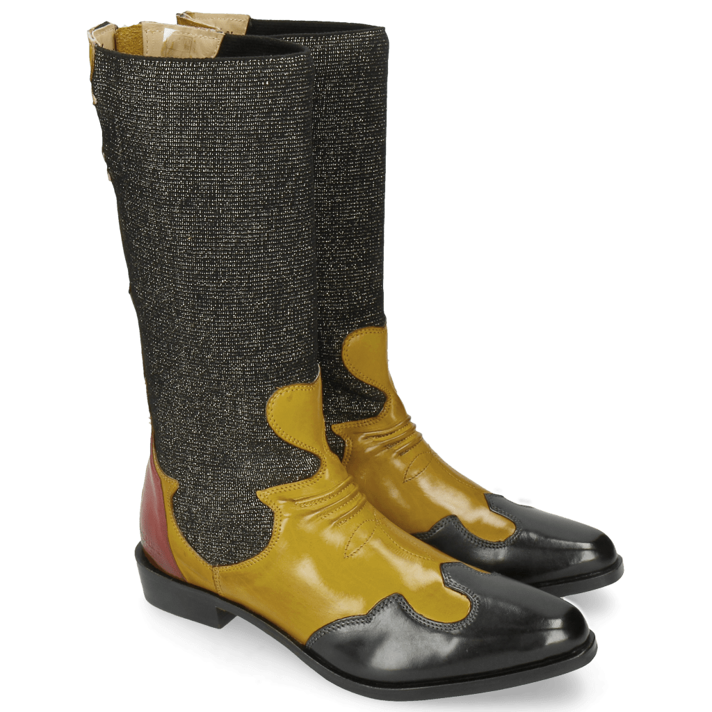 Stiefeletten Marlin 35 Petrol Yellow Stefy Black Gold