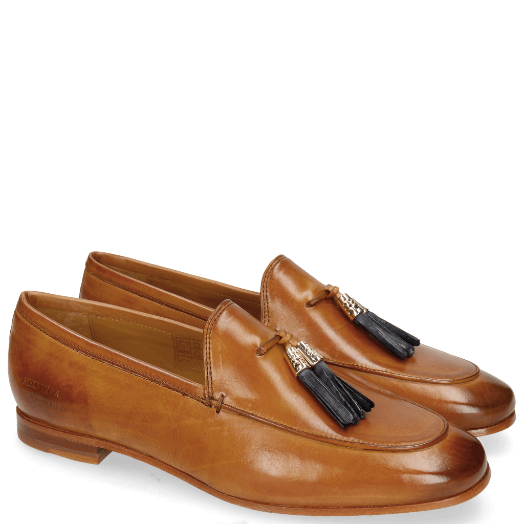 Loafers Scarlett 3 Tan Tassel Navy