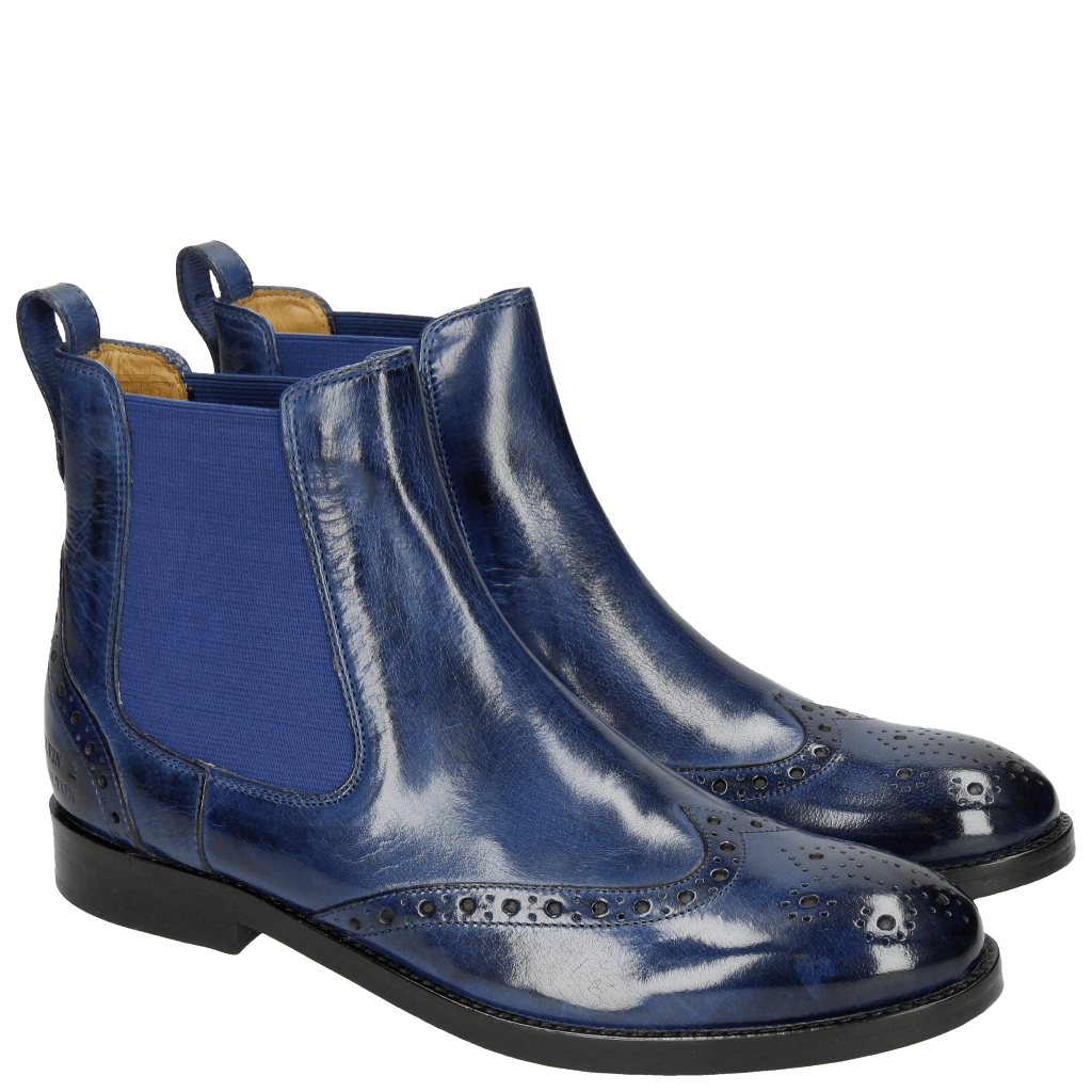 Stiefeletten Amelie 5  Electric Blue Elastic Electric Blue LS