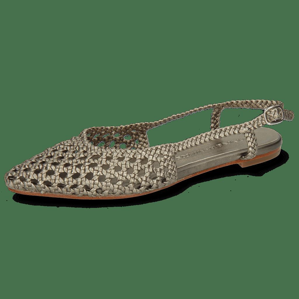 Sandalen Alexa 27 Open Weave Pewter