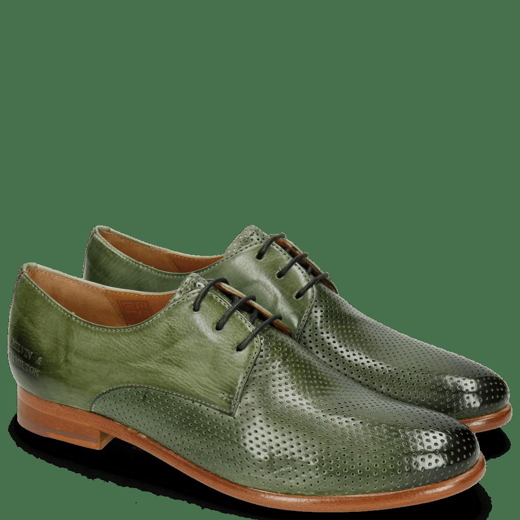 Derby Schuhe Selina 23 Perfo Algae