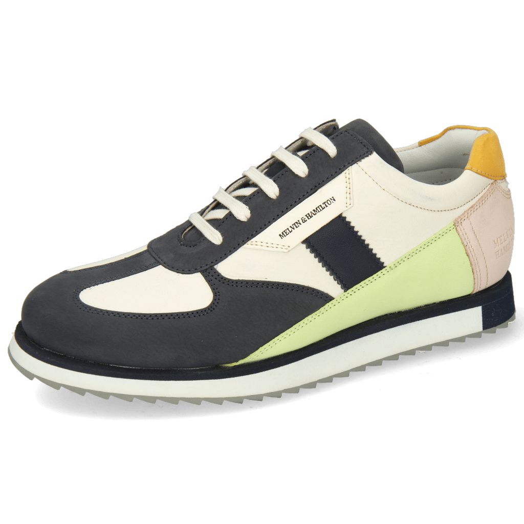 Sneakers Nadine 1 Nubuck Navy Cream White Lime Rose Kumquat