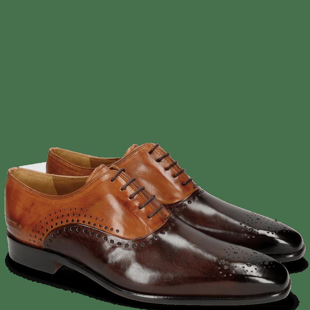 Oxford Schuhe Lewis 41 Mogano Tan