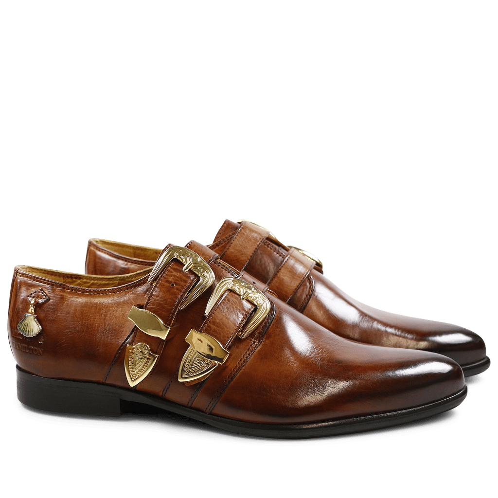 Monk Schuhe Keira 5 Wood Buckle Gold Strap