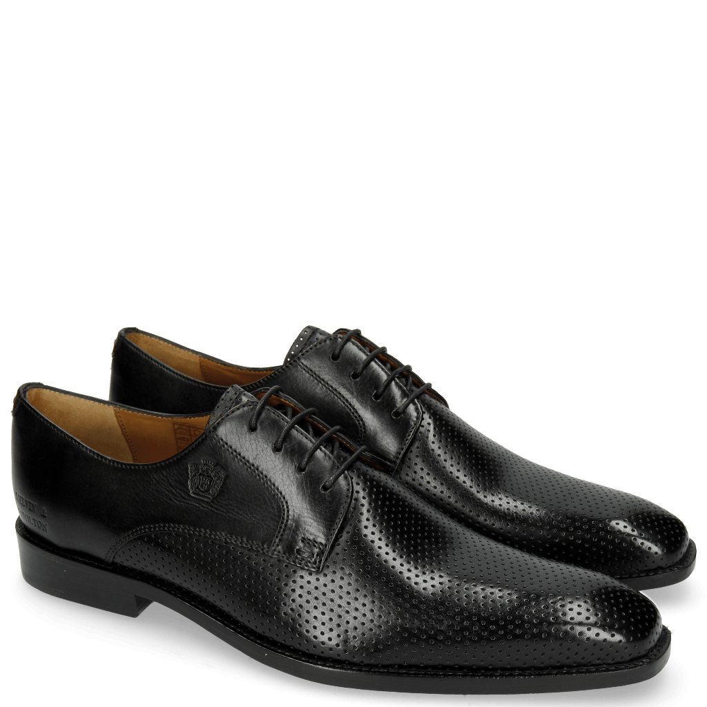 Derby Schuhe Martin 1 Berlin Perfo Black