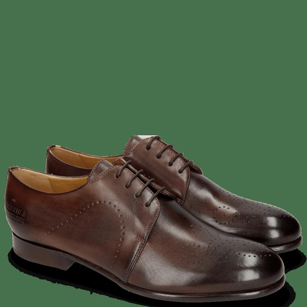 Derby Schuhe Sally 1 Mogano
