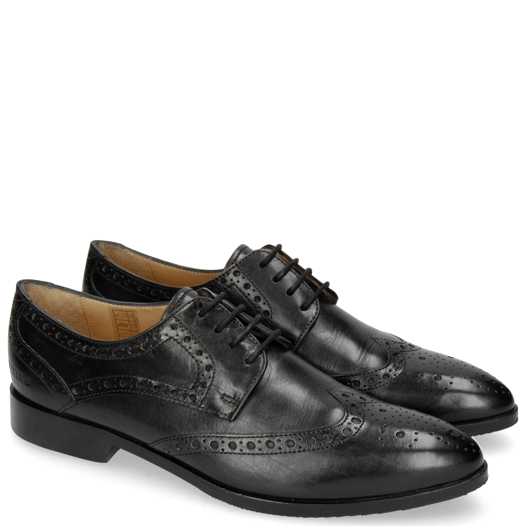 Derby Schuhe Jessy 6 Black HRS