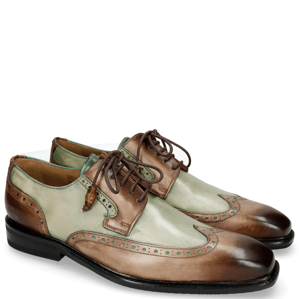 Derby Schuhe Marvin 13 Dark Brown Pine