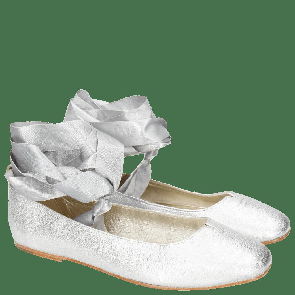 Ballerinas Melly 4 Talca Silver Ribbon
