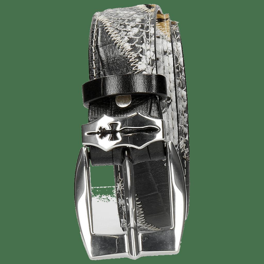 Gürtel Larry 2 Turtle Black Indian Snake Black White Hairon Camouflage Sword
