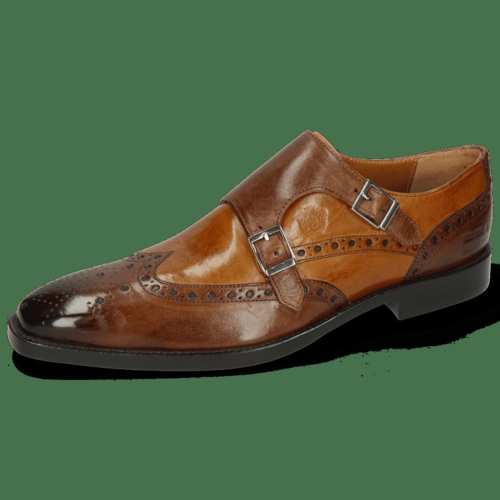 Monk Schuhe Martin 1 Berlin Mid Brown Tan