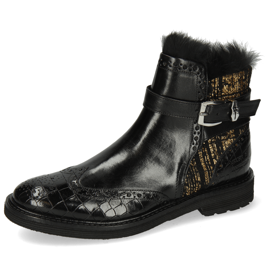 Stiefeletten Amelie 67 Crock Black Textile Tweed Black Gold
