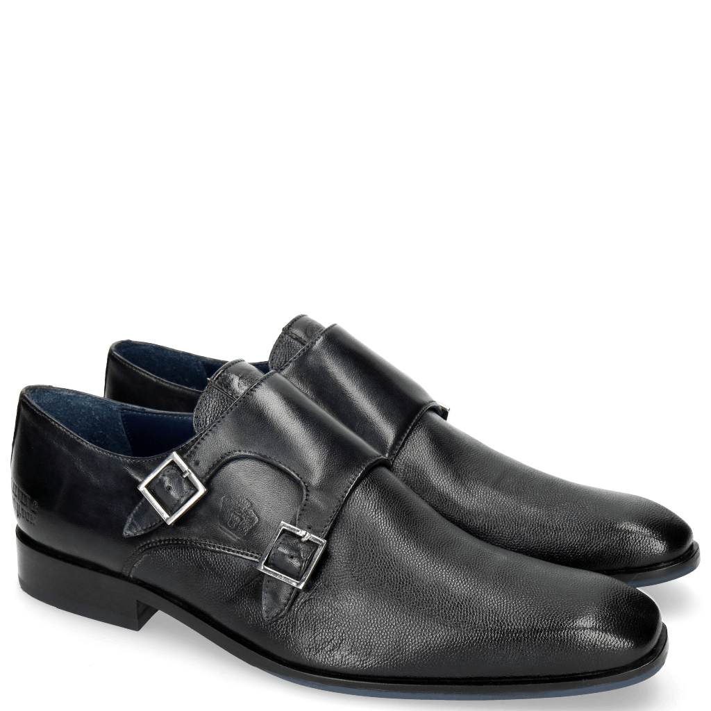 Monk Schuhe Rico 3 Scotch Grain Navy