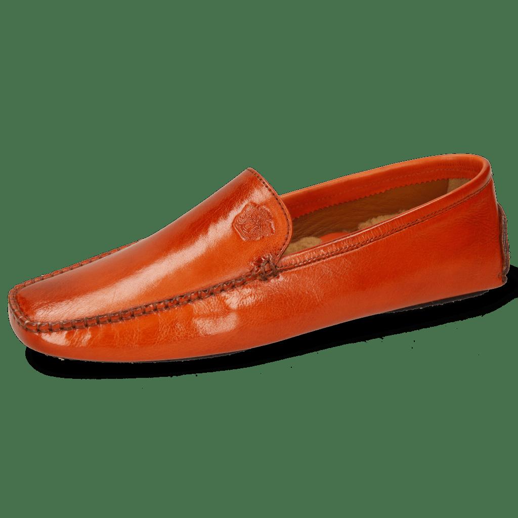 Loafers Home Donna Imola Winter Orange Sherling Mustard