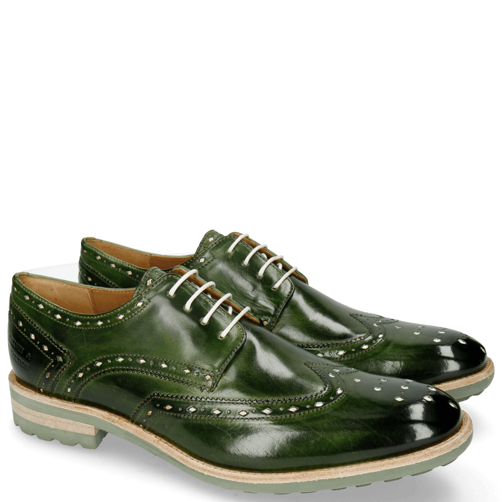 Derby Schuhe Eddy 5 Ultra Green White Punch