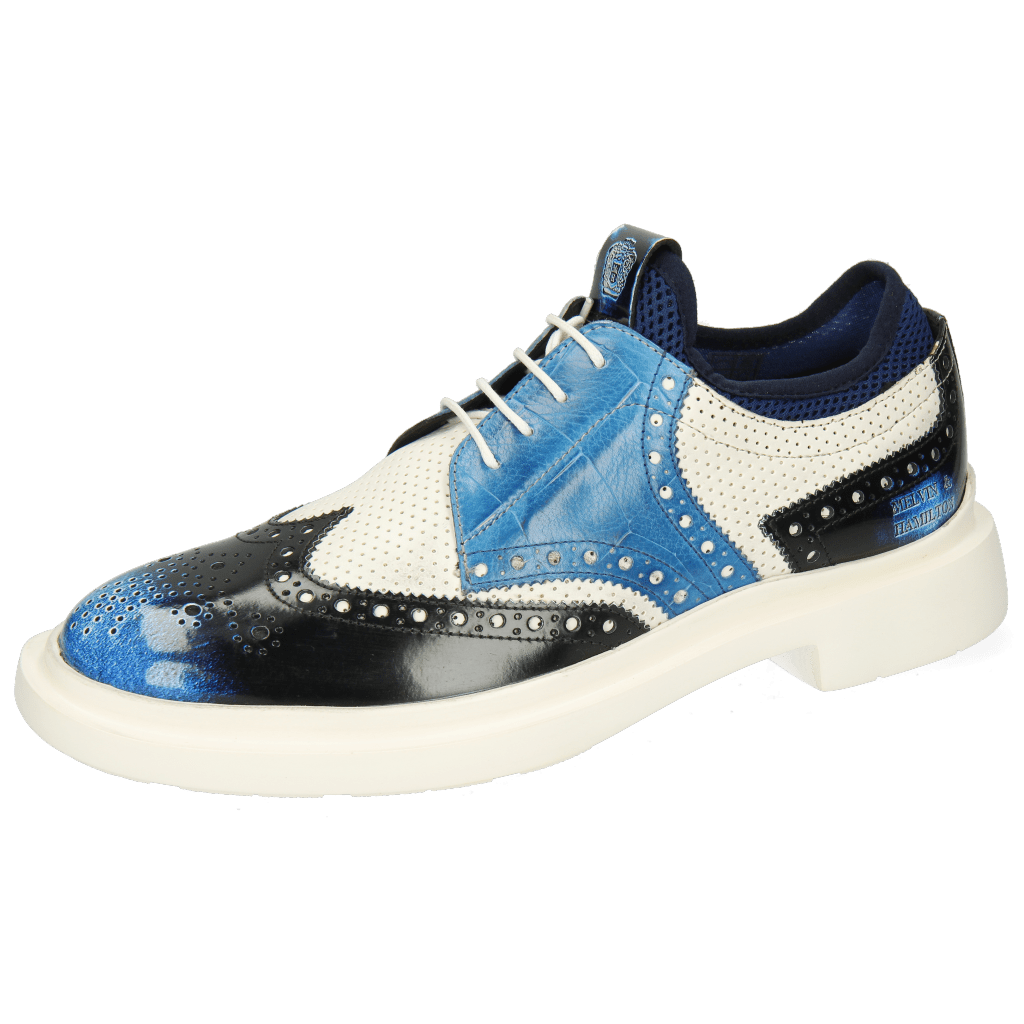 Derby Schuhe Ron 2 Brush Off Multi Blue Perfo White Turtle Mid Blue