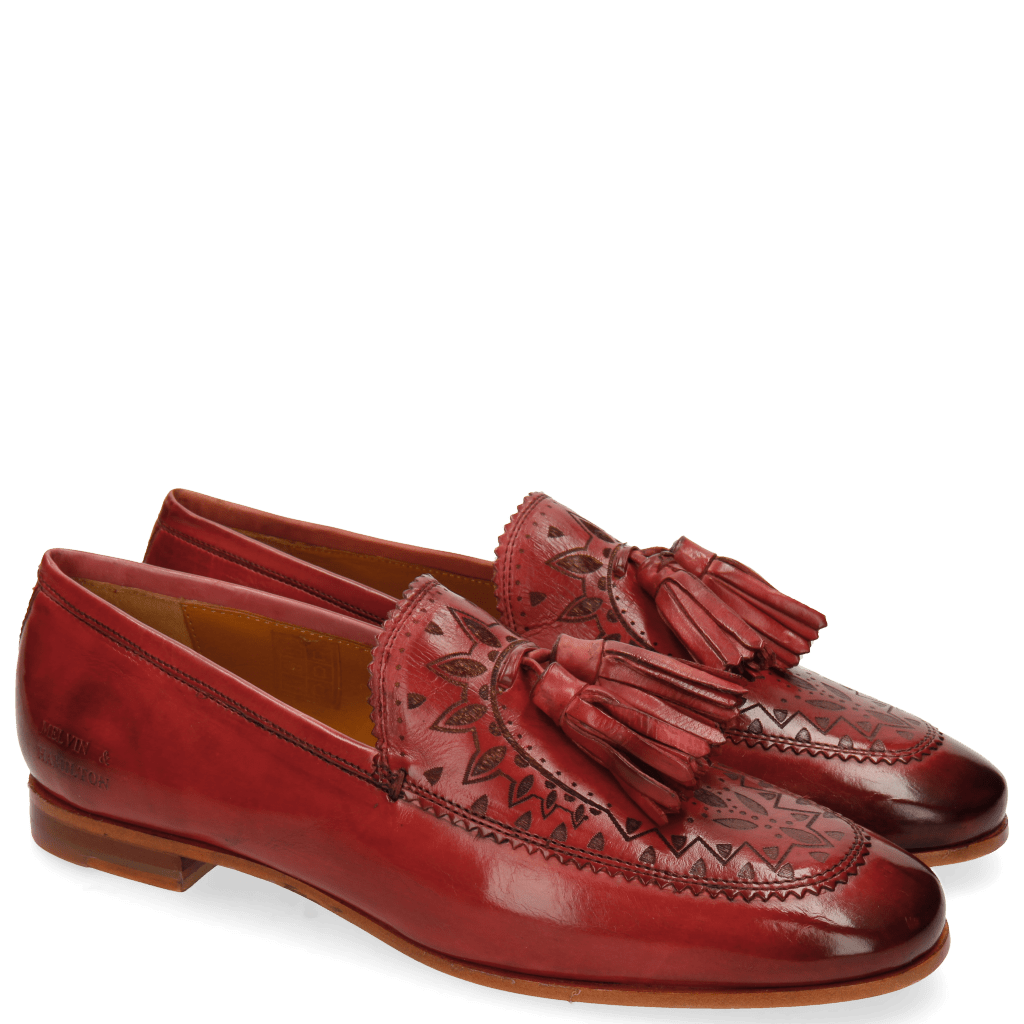 Loafers Scarlett 15 Rich Red Lasercut