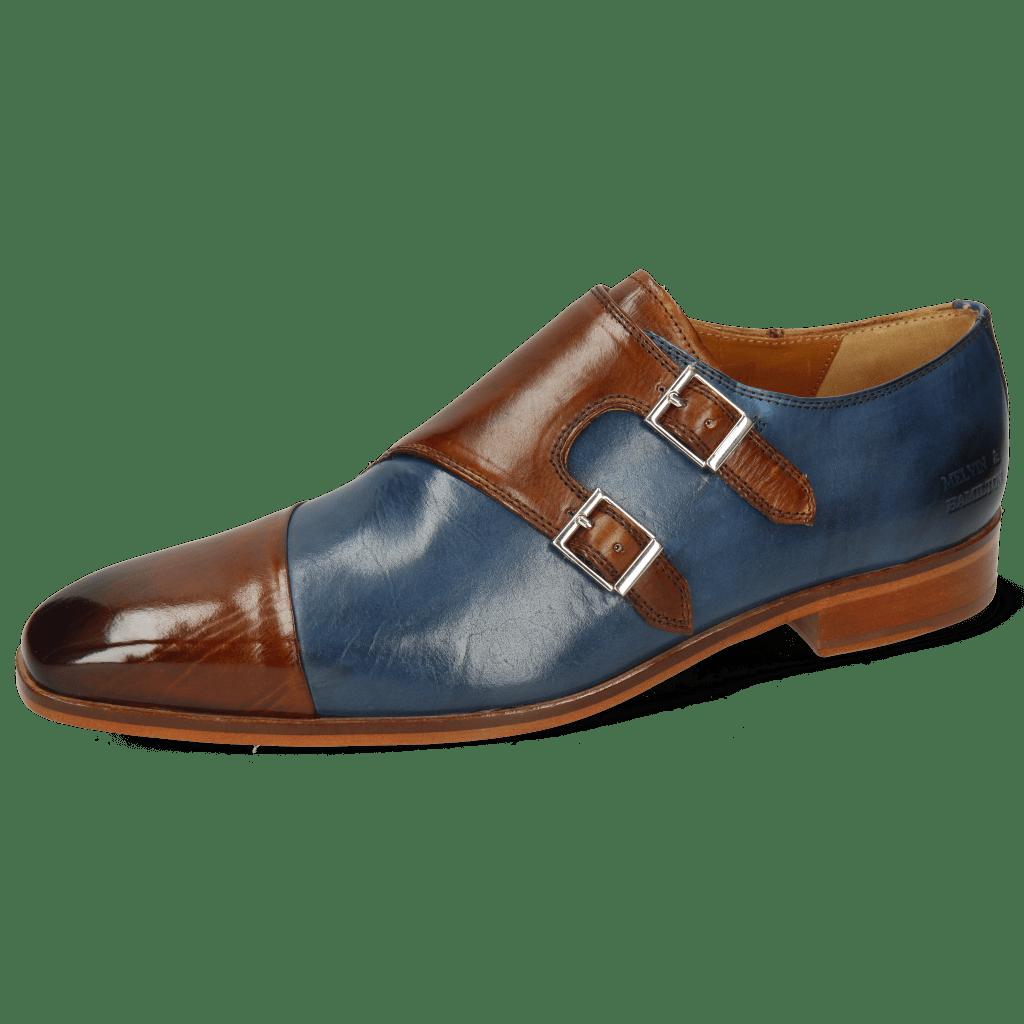 Monk Schuhe Lance 34 Wood Mock Navy