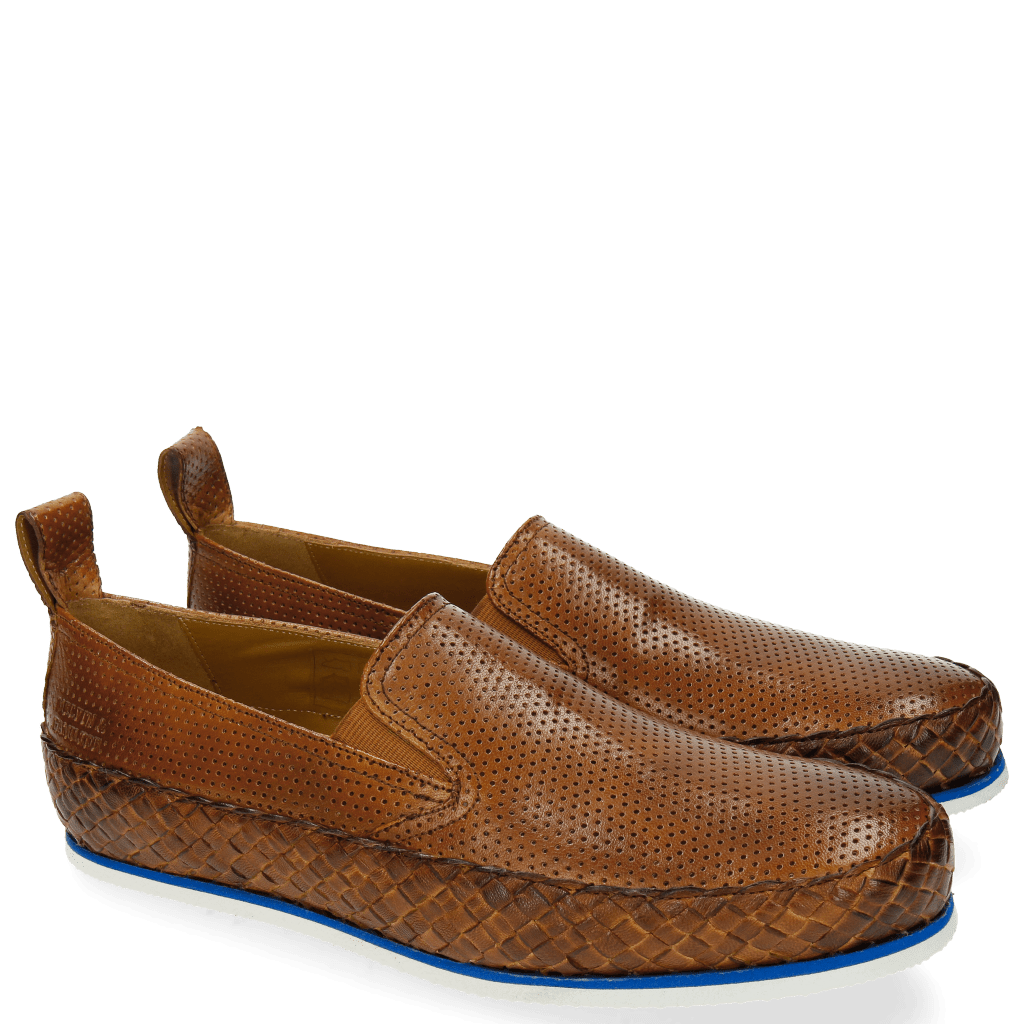 Loafers Alfred 1 Perfo Tan Strap Woven Tan