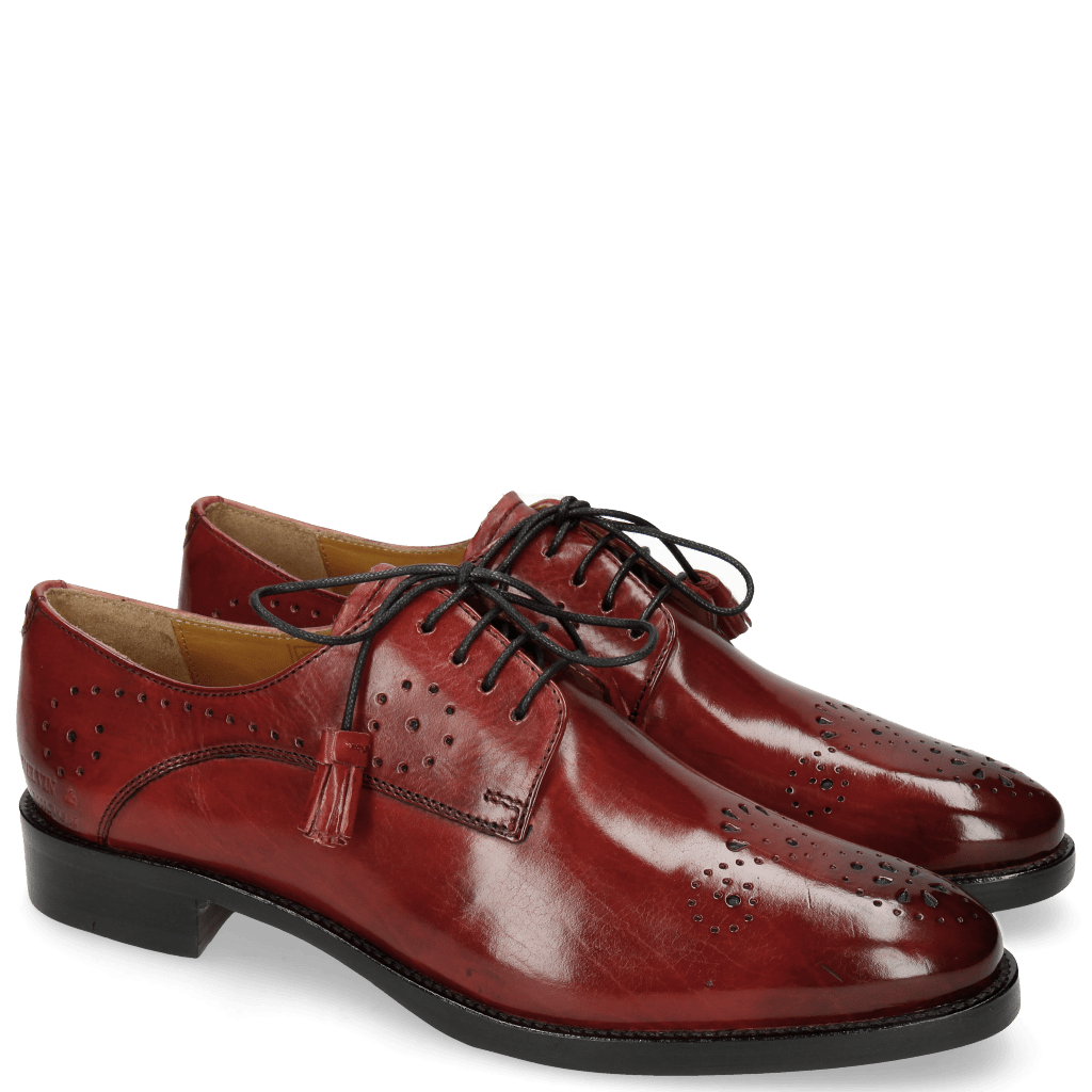 Derby Schuhe Betty 2 Ruby Tassel Ruby
