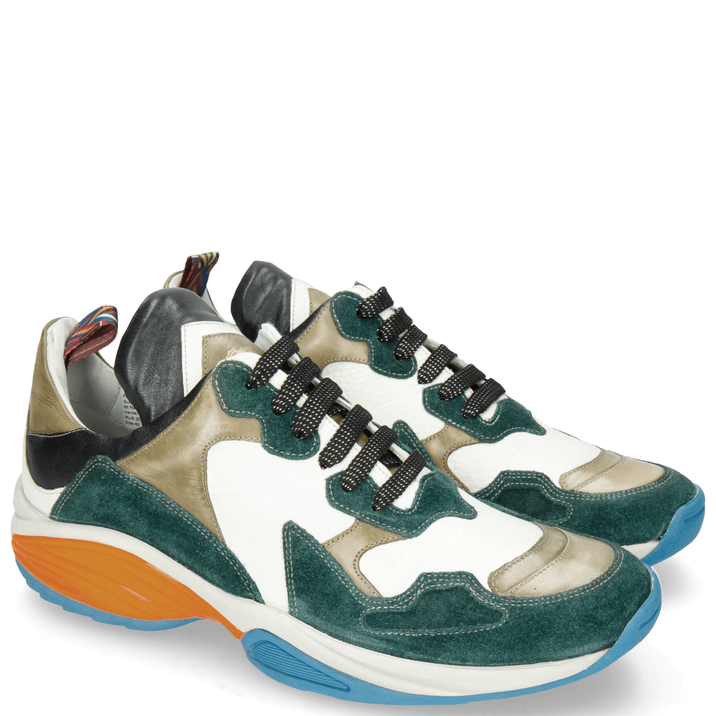 Sneakers Flo 1 Suede Pattini Verde Milled White Olive