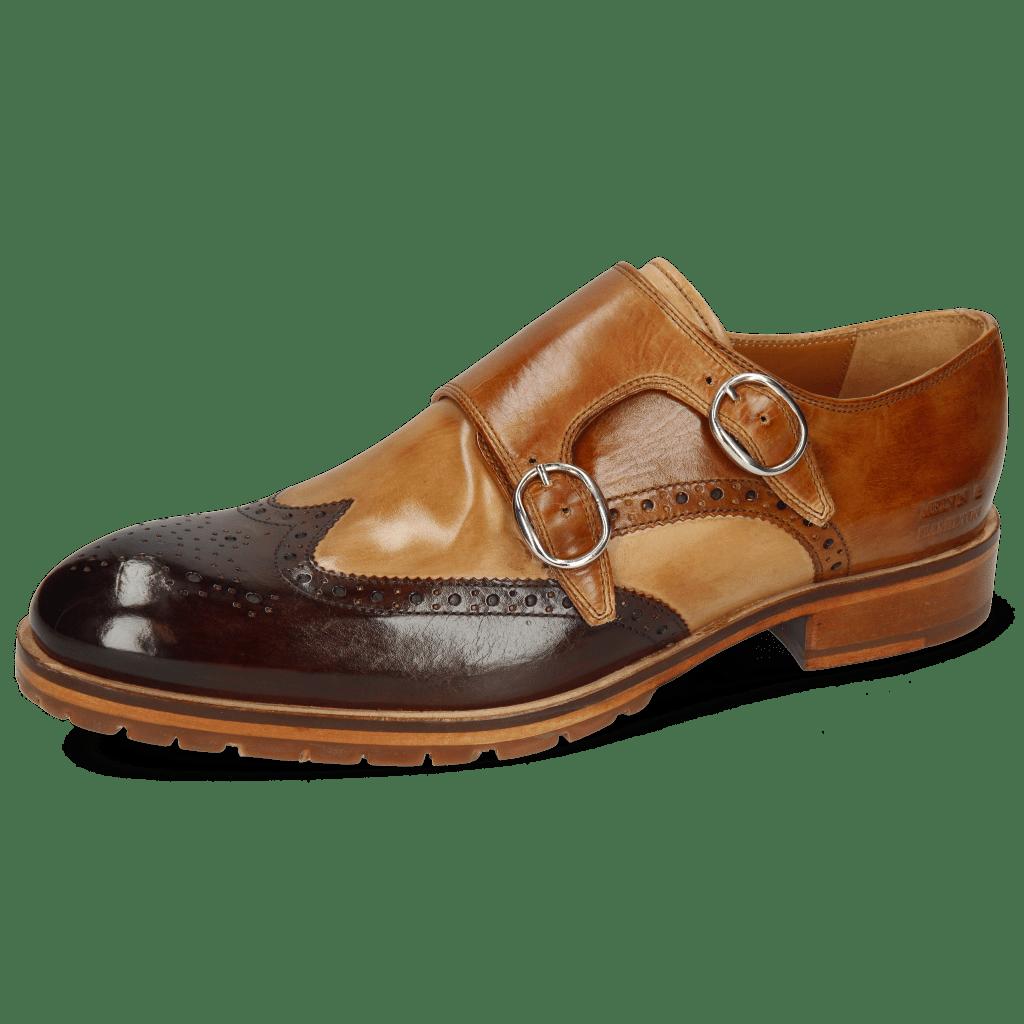 Monk Schuhe Patrick 24 Mid Brown Sand Tan Tortora