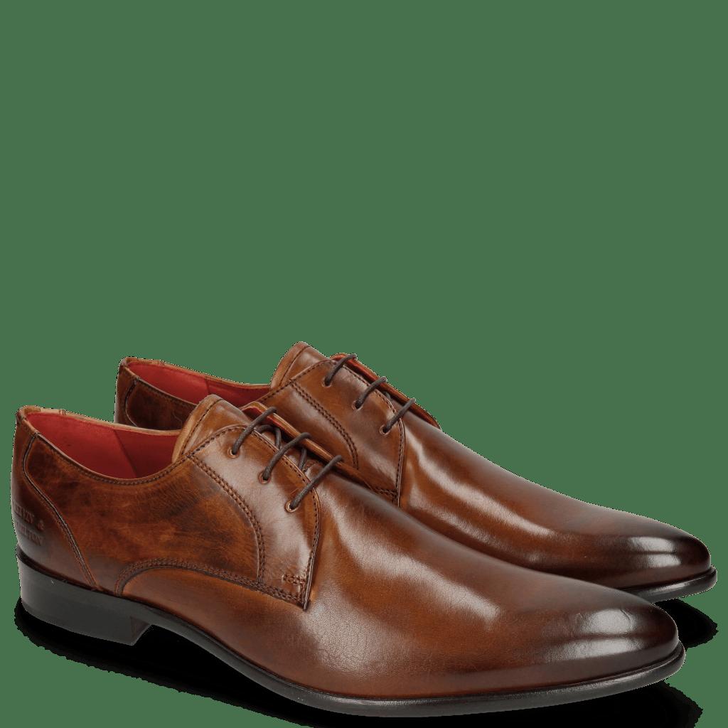 Derby Schuhe Toni 1 Wood LS Brown