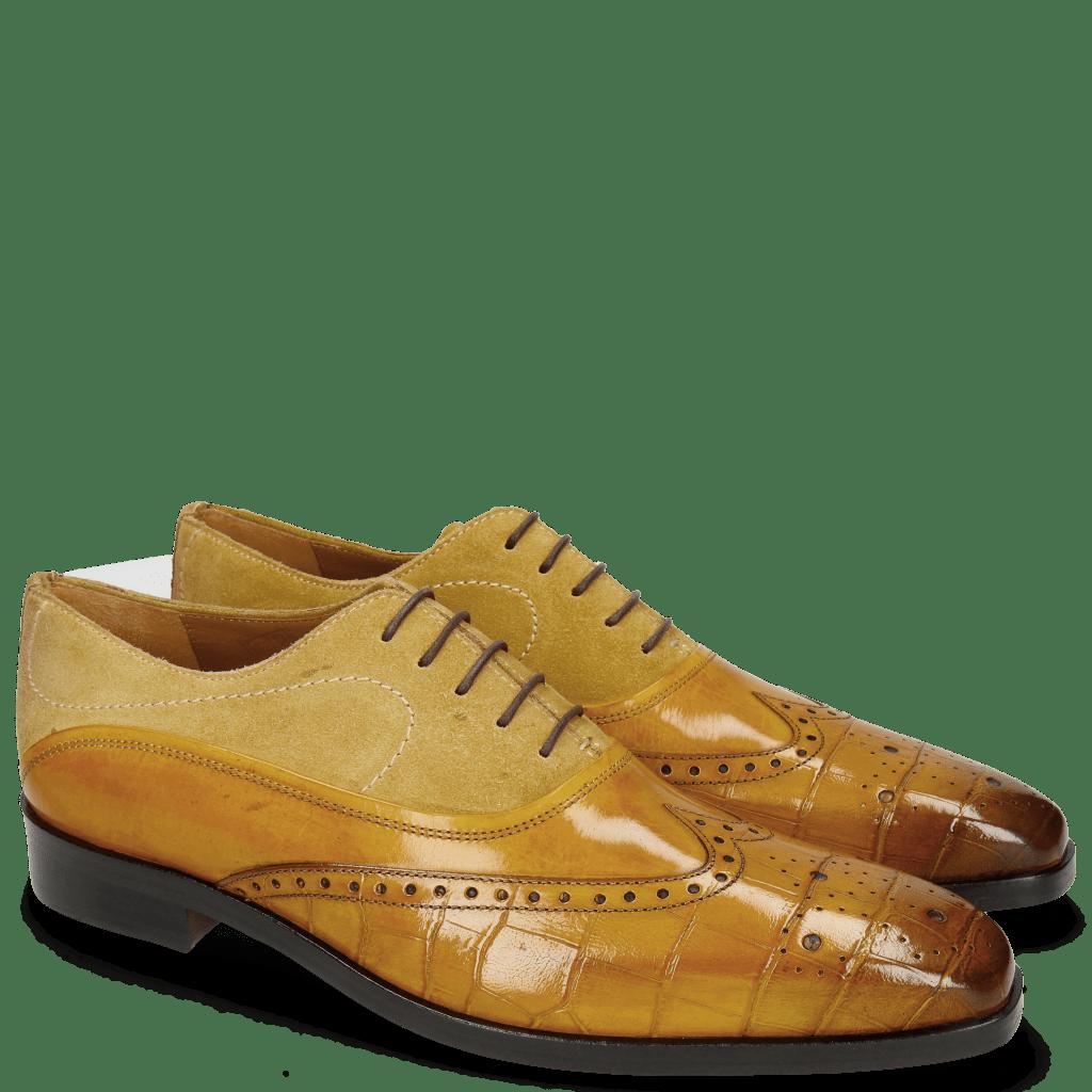 Oxford Schuhe Lewis 4 Big Croco Ocra