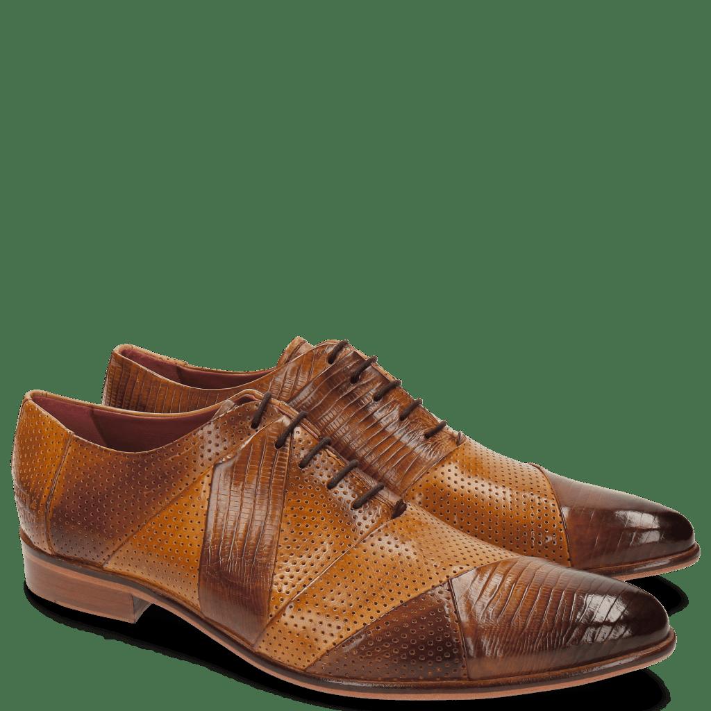Oxford Schuhe Toni 20 Guana Perfo Tan Sand
