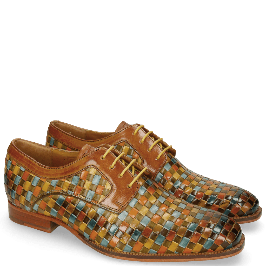 Derby Schuhe Woody 10 Woven Multi Tan