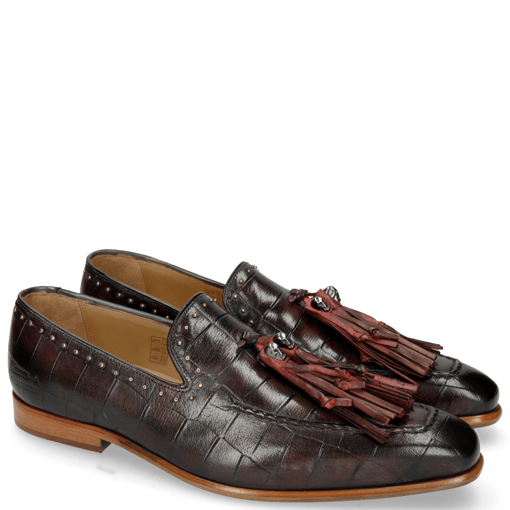 Loafers Lance 36 Turtle Black Red