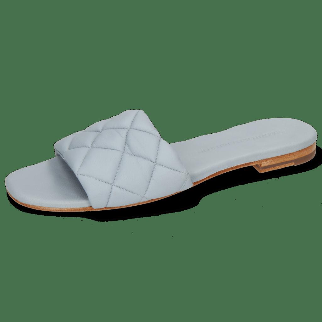 Pantoletten Elodie 37 Nappa Sky Footbed