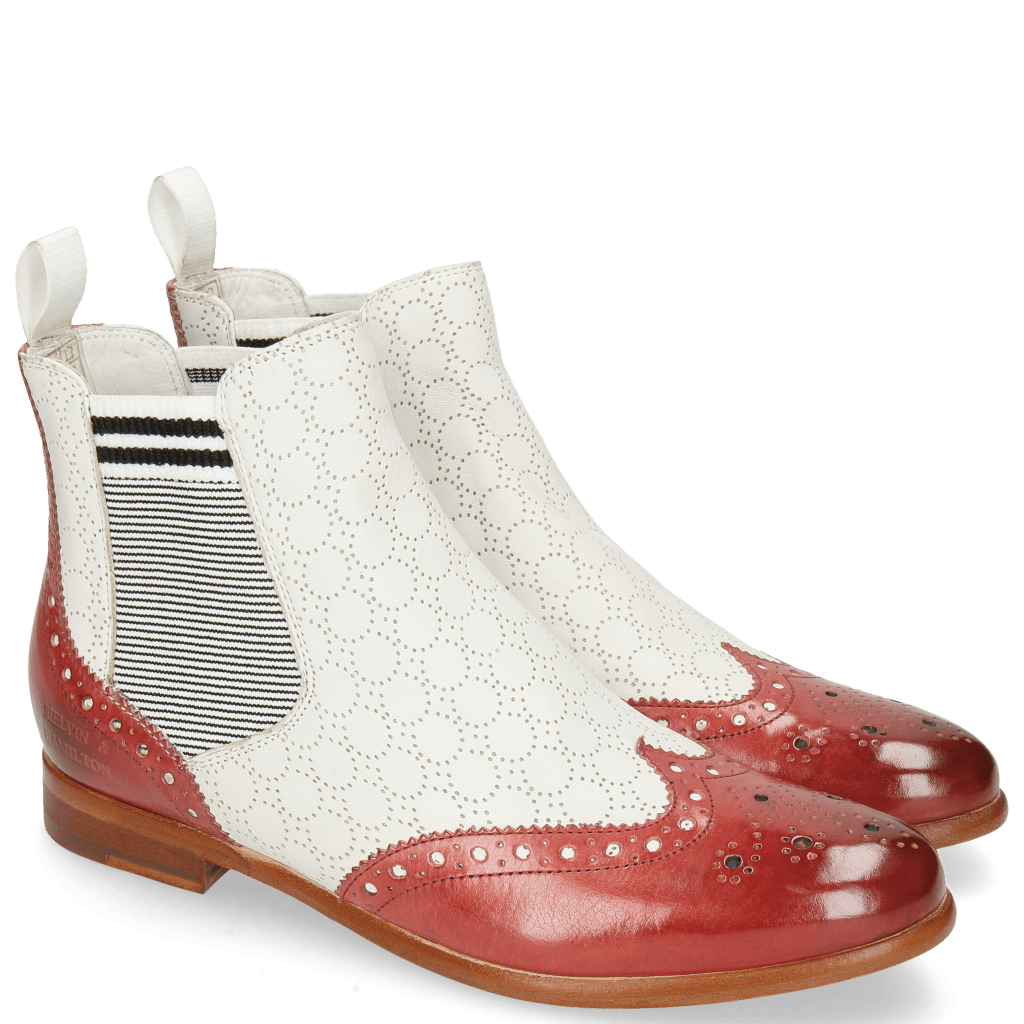 Stiefeletten Selina 6 Ruby Nappa Perfo White