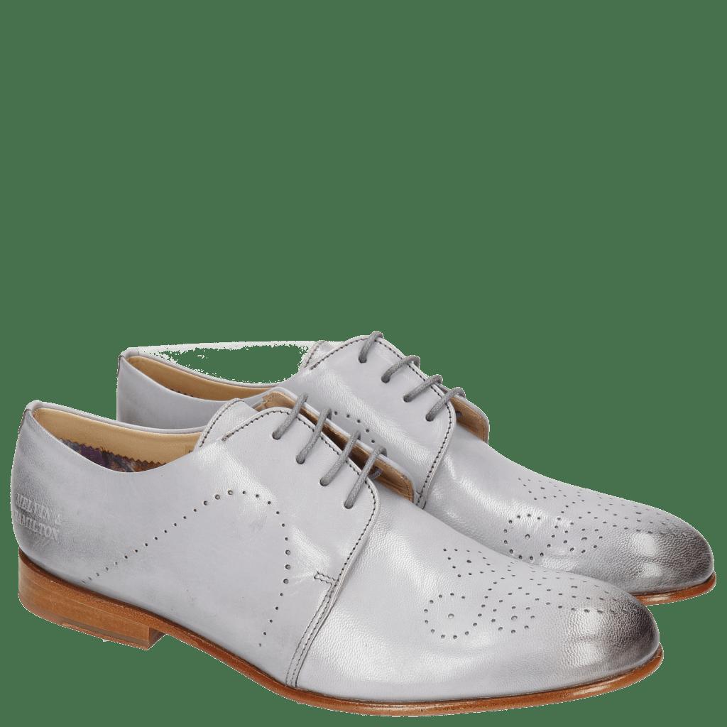 Derby Schuhe Sally 1 Salerno Lila