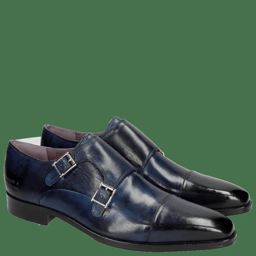 Monk Schuhe Lance 1 Crust Navy HRS