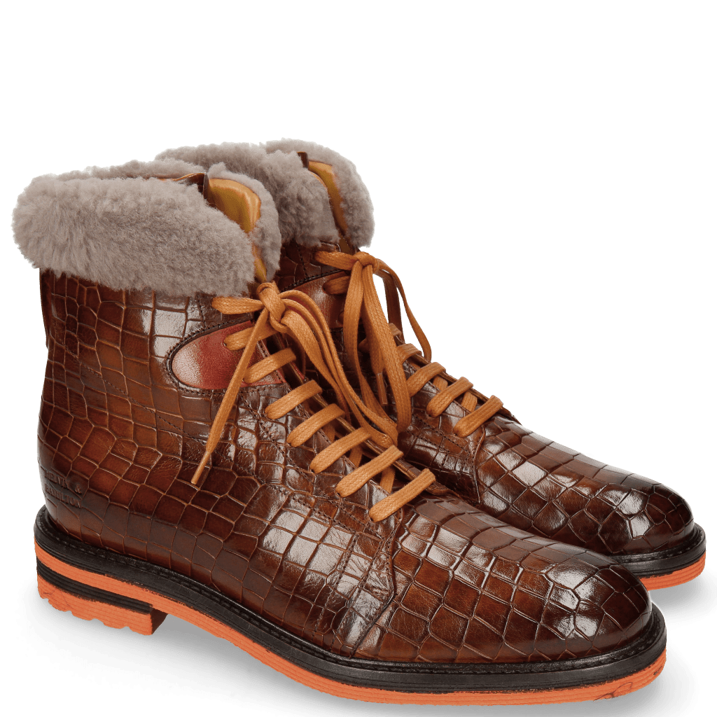 Stiefeletten Trevor 19 Crock Wood Winter Orange Fur Taupe