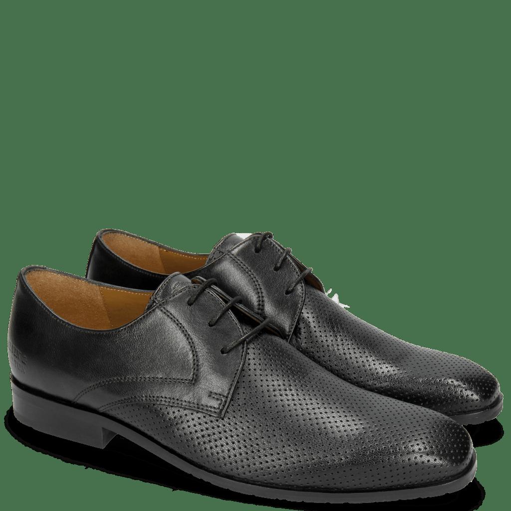 Derby Schuhe Rico 1 Rio Perfo Black
